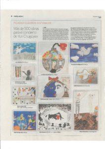 Obras de nuestro alumnado en el periódico SUR